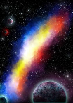 Free Use Space Background: Colorful by Ted-Drakness
