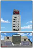Royalty Free full3d building Comi-Po items by Kyotita