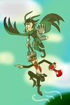 Will n Chris as OwlBoy and Getty by Dizzy-Mis-Lizzy