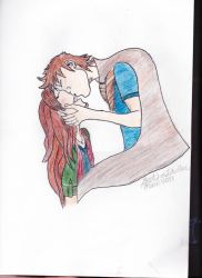 A Kiss Coloured by Lily-Azariel-Shade