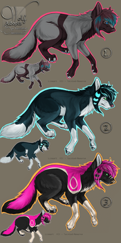 Wolf Adopts2  {for points -Open} by 2deeliroo-kun