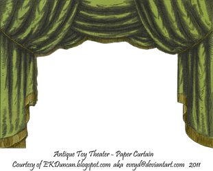 Green Toy Theater Curtain 2 by EveyD