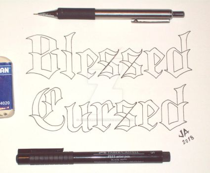 Blessed x Cursed Tattoo Design 2.0 by JesseAllshouse