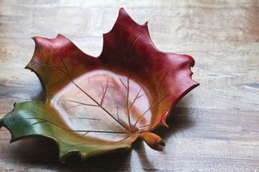 Leather Leaf Bowl by Drocan