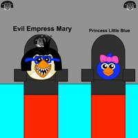 Evil Empress Mary and Princess Little Blue 4 by Mario1998