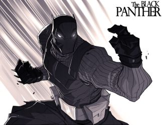 Another Black Panther by chriscopeland