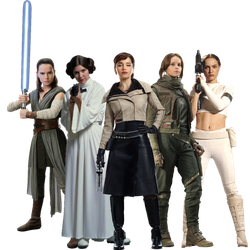 Star Wars Leading Ladies (full body) PNG by nickelbackloverxoxox