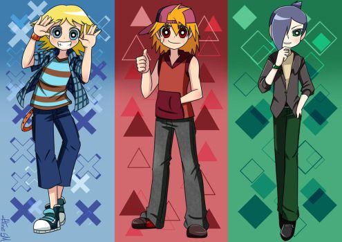 Powerpuff Girls Z - Boys 1 by AlineSM
