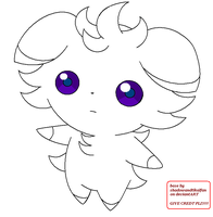 Espurr base/lineart :free to use: by LilaTheFireFox