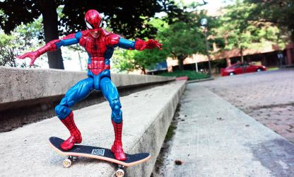 Spidey's Ode To Tony Hawk by M-Watts-Art