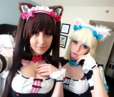 Chocola and Vanilla Cosplay Neko Paradise by EroticNeko