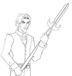 Lineart:: Handsome Devil by sushi-man