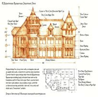 Richardsonian Romanesque Department Store by Built4ever