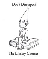 Library Gnomes by Squeakyrat