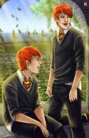 The Weasley Twins by TyrineCarver