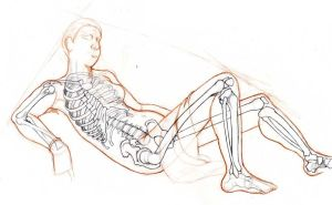 reclining bones by Hobbes-Maxwell