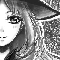 Monochrome Witch by awasetsu