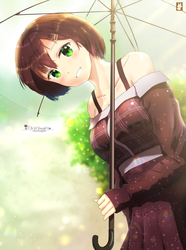 doodle: Smiling in the Rain by chinchongcha
