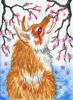 Cherryblossoms (ACEO) by Woodswallow
