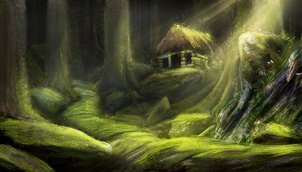 Hut in the woods by HenryBiscuitfist
