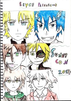 Bryce Papenbrook Sunnycon drawing coloured by Fran48