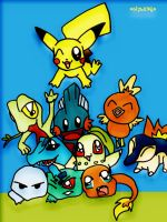 Pokemon: Starters from first 3 by shadowmancer32