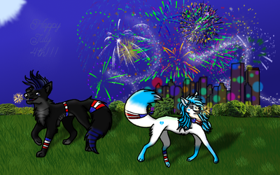 A Little Party for a Big Country by Wolfie-Le-Wolf
