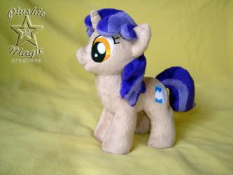 Background unicorn mare plushie by SunflowerTiger