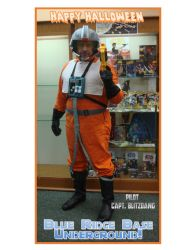 X-Wing pilot Happy Halloween by captblitzdawg