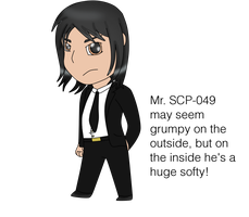 SCP-049 Humanized Chibi + Info by Dolphingurl21stuff