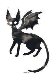 Ink Swamp Cat by Myrntai