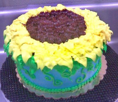 sunflower cake by angelazilla
