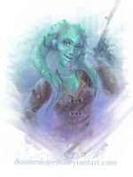 Portrait commission - Tala by DoomMistress