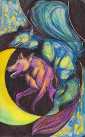 Moleskine XXI - Night of the Foxes by Nakilicious