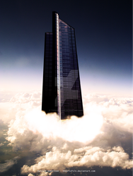 Building To Breach The Clouds by theartofsin