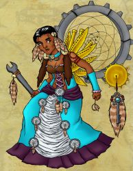 Turquoise Steampunk Native by 2becontinued-3