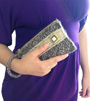 Knitted Elegant Clutch Handbag by AmareeLis