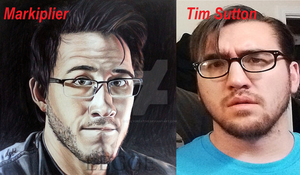 Markiplier and Tim Sutton by LillyCreative