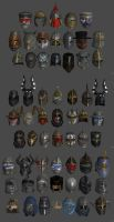 'Chivalry: Medieval Warfare' Helmets pack XPS ONLY by lezisell