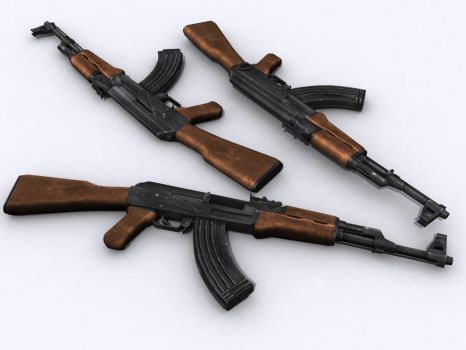 AK-47 model 1955 skinned by senor-freebie