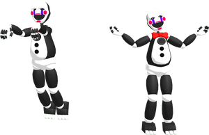 MMD FNAF Funtime Puppet DL by SoloBaka