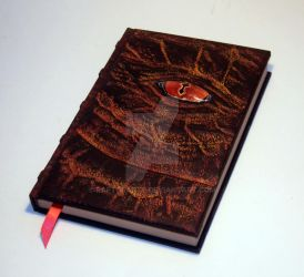 Dragons Eye Carved sculpted grimoire sketchbook