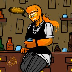 Grillby (Undertale) by YaoiLover113