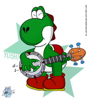 [RQ] One Yoshi and his Banjo... by blueyoshiegg