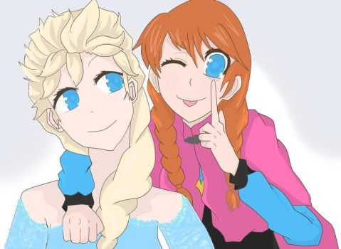 Frozen: Anna and Elsa by pacobird1