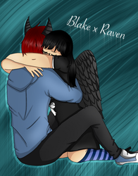 AT-Blake n Raven by Pinkwolfly