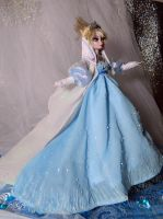 Disney frozen Evil Villain Elsa OOAK doll by DanielMinaev