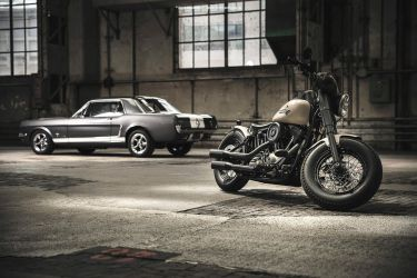 2012 Harley-Davidson and 1965 Mustang by AmericanMuscle