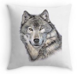 Wolf Kissen - Wolf Pillow by ArtsandDogs