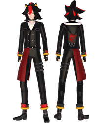 [MMD]Shadow The Hedgehog (Human) by Moon-Marionette